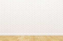 Leere weiße Backsteinmauer Stockfotografie