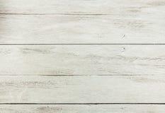 Leere weiße hölzerne Tabelle Lizenzfreies Stockbild