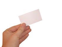 Leere weiße Karte Stockbilder