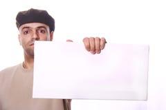 Leere weiße Karte Lizenzfreies Stockbild