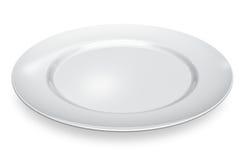 Leere weiße Porzellanplatte vektor abbildung