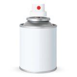 Leere weiße Spraydose, Stockbild