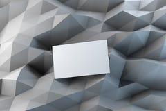 Leere weiße Visitenkarte Lizenzfreies Stockfoto