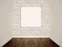 Leere weiße Wände stockfoto