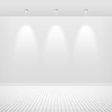 Leere weiße Wand Lizenzfreie Stockfotografie