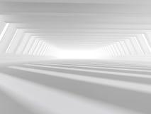 Leere weiße Wiedergabe des offenen Raumes 3D Stockbild