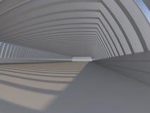 Leere weiße Wiedergabe des offenen Raumes 3D stockfoto