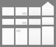 Leere Weißbuchumschlagvektorschablonen eingestellt Lizenzfreie Stockbilder