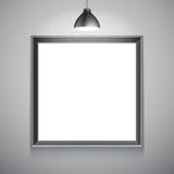 Leere weiße Plakat-Schablone Stockbilder
