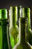 Leere Wein-Flaschen Stockfotos