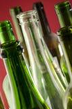 Leere Wein-Flaschen Stockbilder
