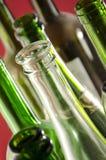Leere Wein-Flaschen Stockfoto