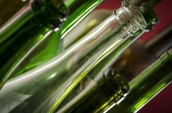 Leere Wein-Flaschen Stockfotografie