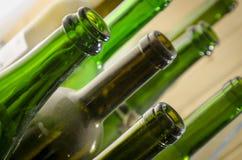 Leere Wein-Flaschen Lizenzfreies Stockfoto