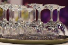 Leere Wein-Gläser Stockfotos