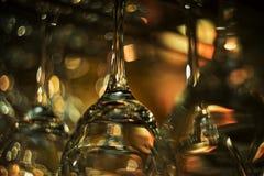 Leere Wein-Gläser Lizenzfreie Stockfotografie