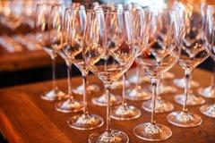 Leere Wein-Gläser Lizenzfreies Stockbild