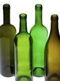 Leere Weinflaschen Stockfoto