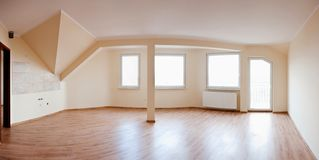 Leere Wohnung Stockfoto