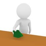 Leere Zahl, die Green Cards zeigt Lizenzfreies Stockfoto