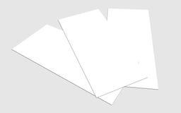 Leere Zoll-Fliegersammlung des Weiß 4x8 - 12 Lizenzfreie Stockfotografie