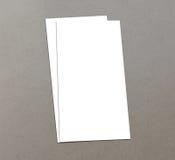 Leere Zoll-Fliegersammlung des Weiß 4x8 - 21 Lizenzfreie Stockfotos