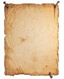 Leeren Sie altes Papier mit den rostigen Nägeln, die auf Weiß lokalisiert werden Lizenzfreie Stockfotos