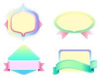 Leeren Sie Aufkleberschablonen Stockbilder