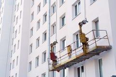 Leeren Sie Aufzug auf Wohnungsbausite Stockfotografie