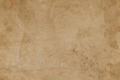 Leeren Sie befleckte alte Oberfläche des braunen Papiers entziehen Sie Hintergrund Stockbilder