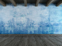 Leeren Sie blauen grunge Raum Lizenzfreies Stockfoto