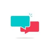 Leeren Sie Chatblasen-Ikonenvektor, sms oder plauderndes Symbol Lizenzfreies Stockfoto