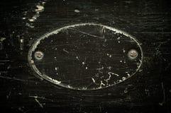 Leeren Sie das gealterte Schwarze gemalt Metallplatten. Lizenzfreies Stockfoto