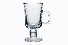 Leeren Sie das getrennte Teeglas Lizenzfreie Stockfotografie