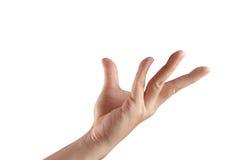 Leeren Sie die geöffnete getrennte Hand stockfotografie