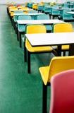 Leeren Sie dinning Tabellen Stockfotos