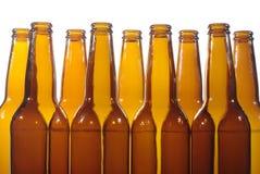 Leeren Sie Flaschenbier Stockfoto