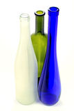 Leeren Sie Glasflaschen der alkoholischen Getränke Lizenzfreies Stockfoto