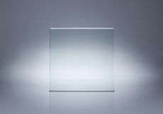 Leeren Sie Glasplatte Stockfoto
