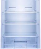 Leeren Sie offenen Kühlschrank lizenzfreies stockbild