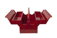 Leeren Sie roten Werkzeugkasten Stockbild