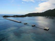 Leeren Sie Schiffs-Hafen in Labadee Haiti stockfoto