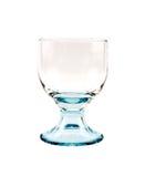 Leeren Sie transparentes Glas für Cocktails auf einem weißen Hintergrund stockbilder