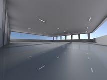 Leeren Sie Untertagewiedergabe des Parkplatzes 3D Stockbild