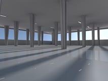 Leeren Sie Untertagewiedergabe des Parkplatzes 3D Stockfoto