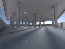 Leeren Sie Untertagewiedergabe des Parkplatzes 3D Stockfotografie