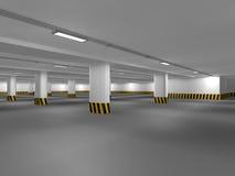 Leeren Sie Untertagewiedergabe des Parkplatzes 3D Stockfotos