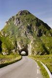 Leeren Sie Weg und kleinen Tunnel Lizenzfreie Stockbilder