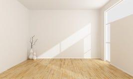 Leeren Sie weißen Raum stock abbildung