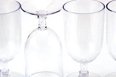 Leeren Sie Weingläser Stockfoto